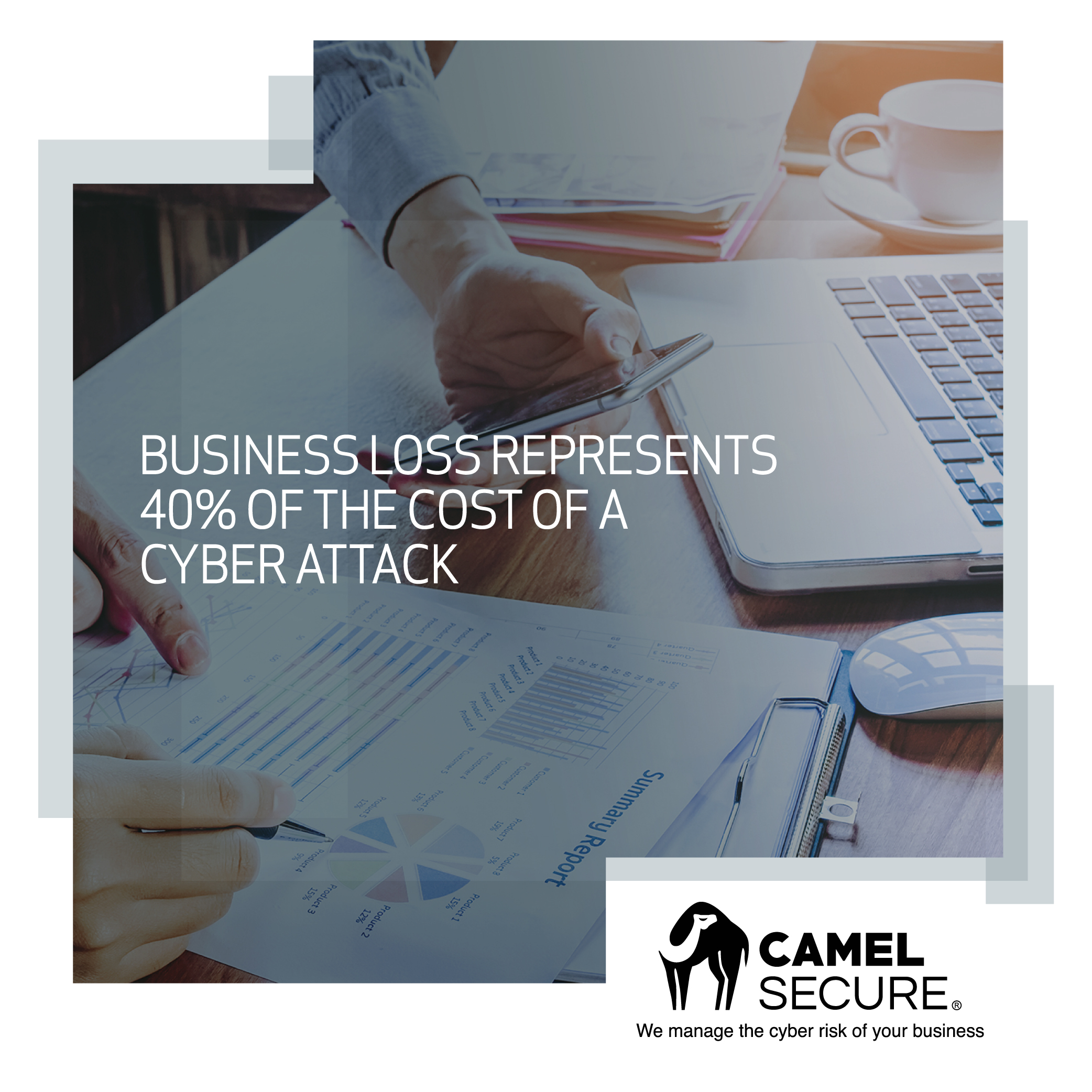 Business loss represents 40% of the cost of a cyber attack