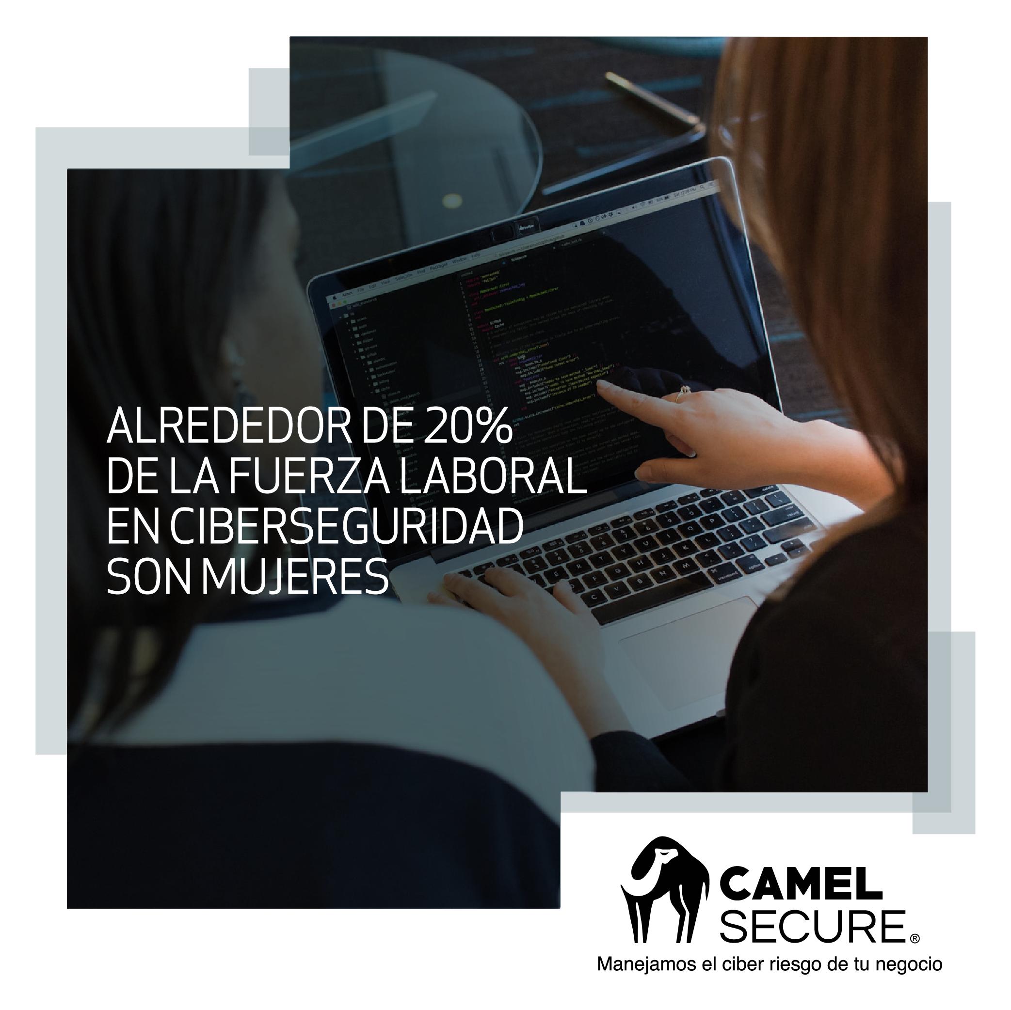 Alrededor de 20% de la fuerza laboral en ciberseguridad son mujeres