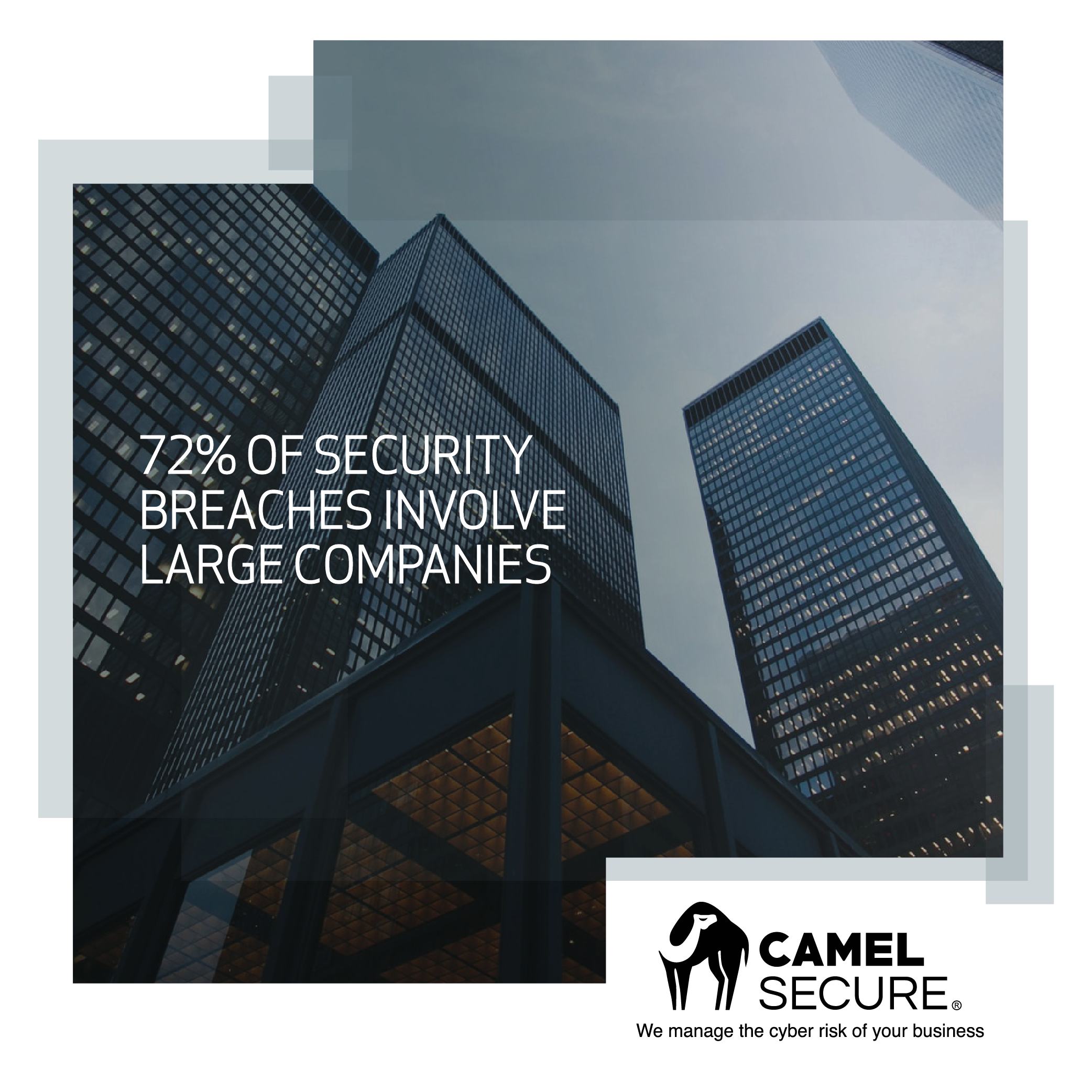 72% of security breaches involve large companies